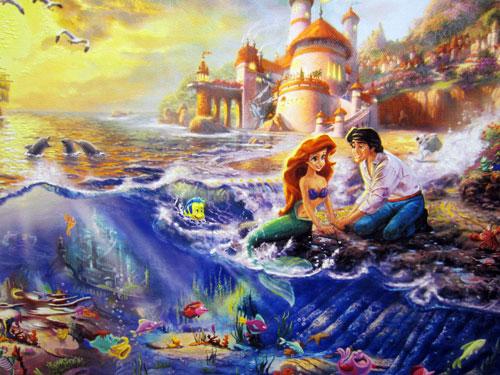 Classic Disney Art By Thomas Kinkade World Of Walt
