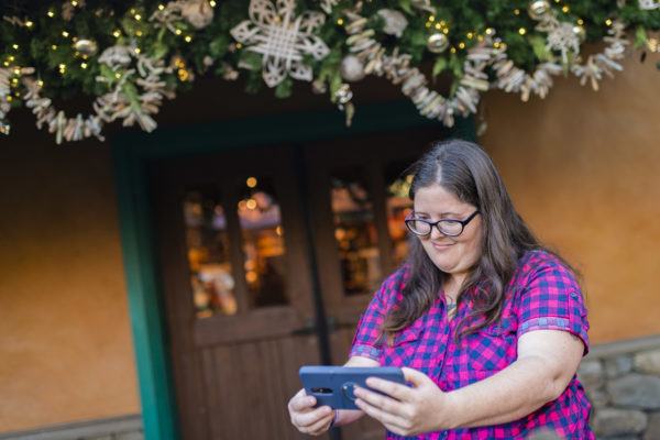 Taking a selfie with your work hanging in Disney's Animal Kingdom is pretty amazing! Photo credits (C) Disney Enterprises, Inc. All Rights Reserved