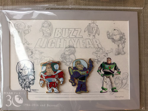 There are two Buzz Lightyear pins in this commemorative pin pack!