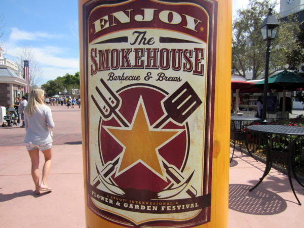 Enjoy the Smokehouse Barbecue and Brews - part of the 2017 Epcot International Flower and Garden Festival.
