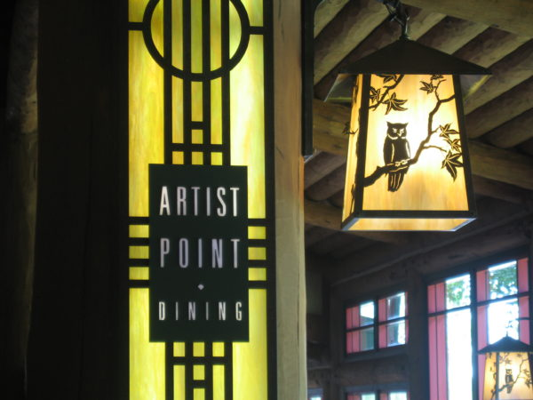Artist Point shifted from a signature dining experience to a character dining experience in 2018.
