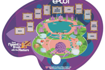Taste of EPCOT International Festival of the Arts 2021 Map. Photo credits (C) Disney Enterprises, Inc. All Rights Reserved