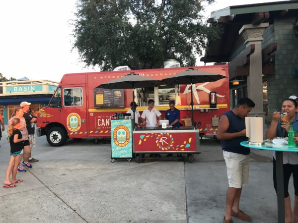 The food truck serves up some great food.