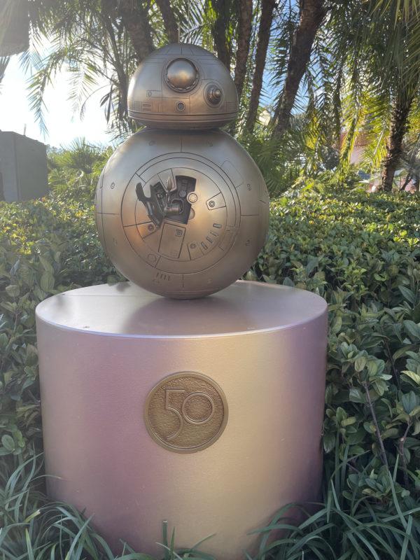 BB-8 (29) sits proudly atop its podium.