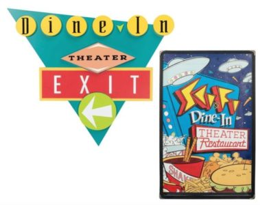 Sci-Fi Dine-In Restaurant Exit Sign and Menu