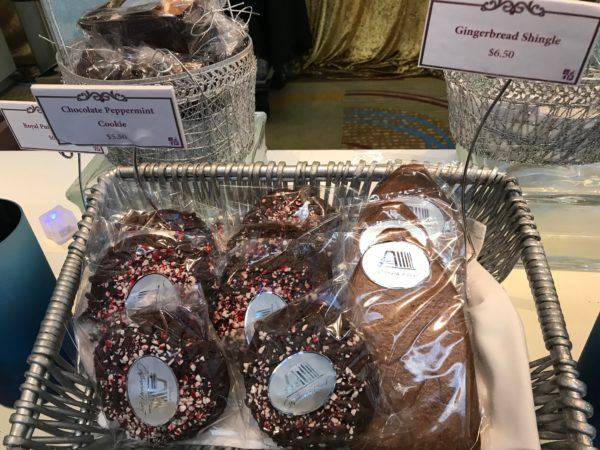 How about a chocolate peppermint cookie or a gingerbread shingle?