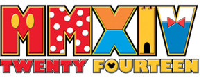 Option 2 – Roman numerals with references to Mickey Mouse and Donald Duck colors and designs. Photo credits (C) Disney Enterprises, Inc. All Rights Reserved