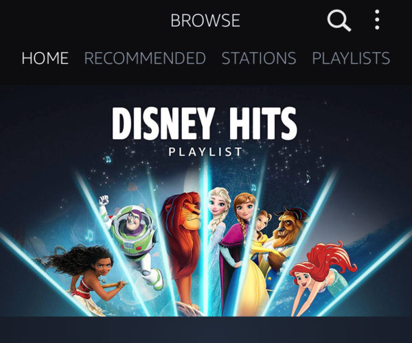 Disney Hits Playlist is now available on Amazon Prime Music!