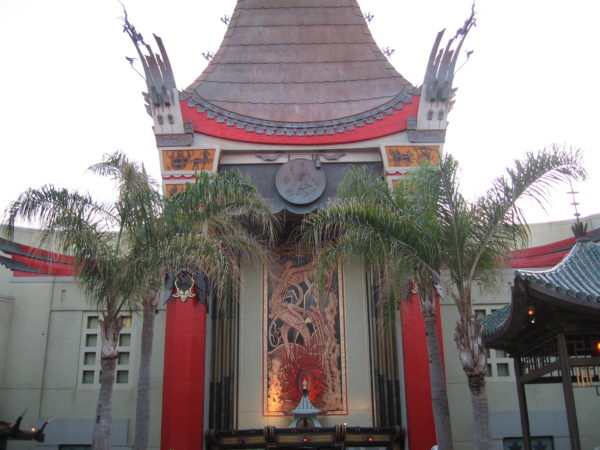 The Chinese Theater transforms into an incredible movie screen at night.