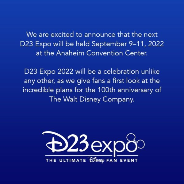 D23's Official Statement From Twitter: @DisneyD23