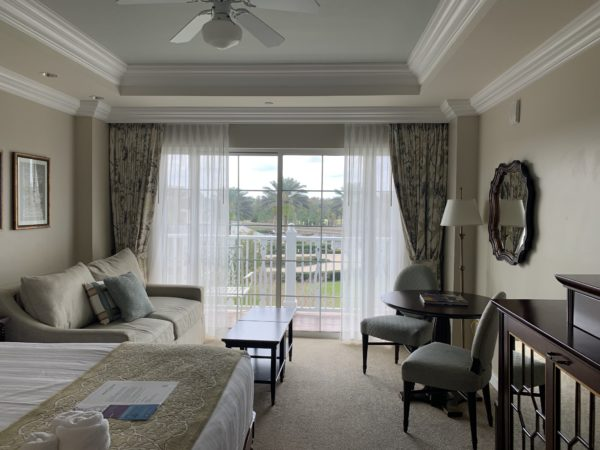 This is a deluxe studio at the Grand Floridian Villas.