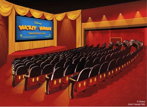What a cute design for this theater! Photo credits © Disney Enterprises, Inc. All Rights Reserved