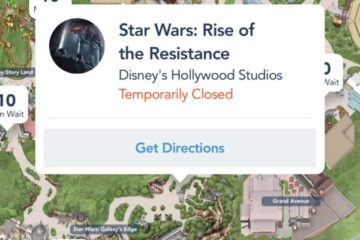 A screen grab of the My Disney Experience App.