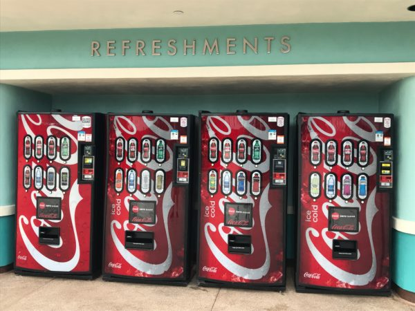 Thirsty on your way in or out? Coke machines located on the outside of the restroom building are ready to serve!