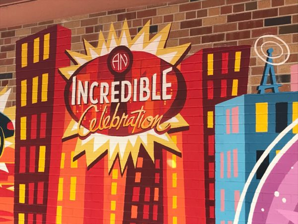 Throughout the area you will see art dedicated to The Incredibles.