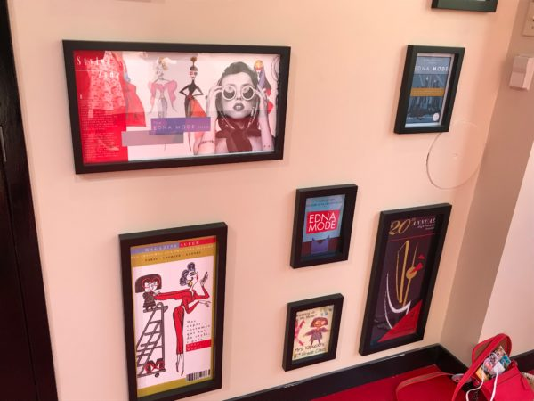 The walls are filled with some of Edna's favorite art.