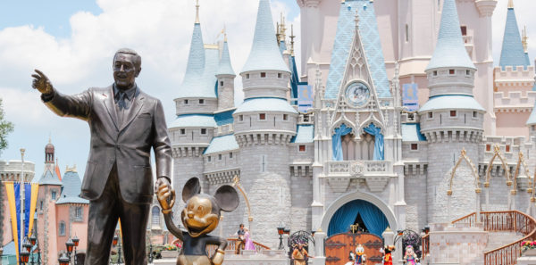 At Just The Right Angle, You Can Get A Shot Of The Castle And The Partner Statue.