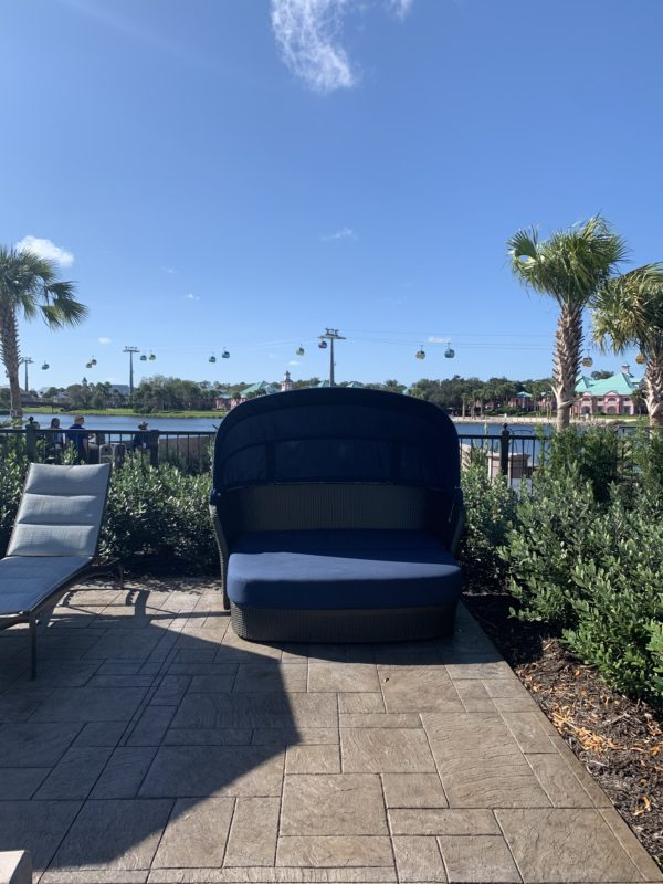 Riviera Pool also features cozy first-come, first-served cabanas.