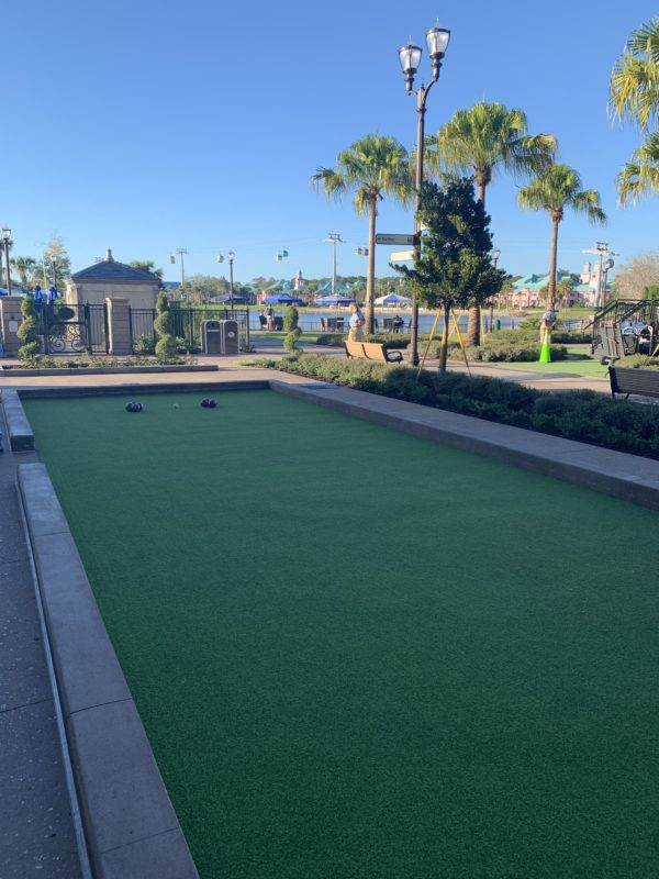 The Bocce Ball lawn is open all day!