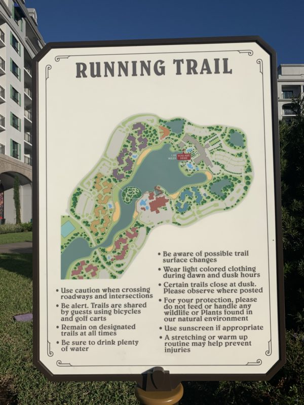 Check out the running trail at Riviera Resort!