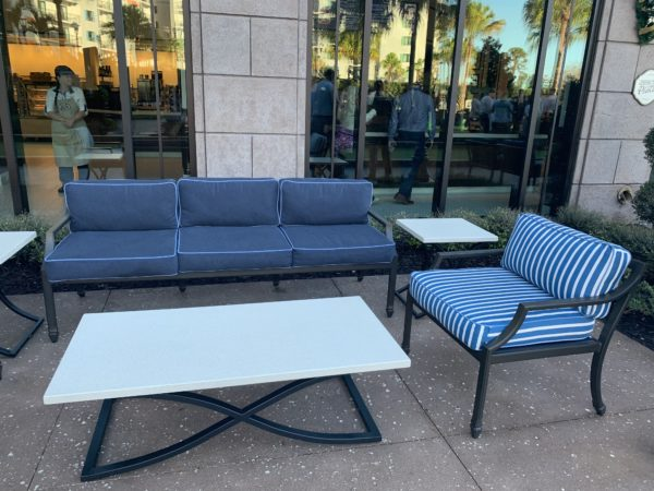 If relaxing in the Riviera is more your speed, Disney's Riviera Resort offers plenty of seating outside basking in the sun or chillin' in the shade.