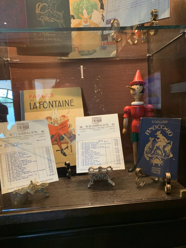 There are also some memorabilia including these from Pinocchio.