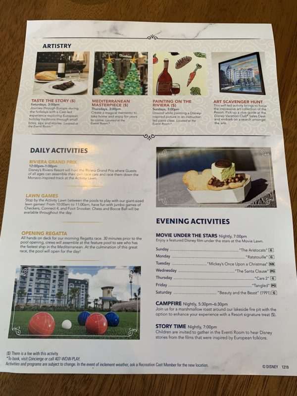 Riviera Resort offers plenty of fun activities!