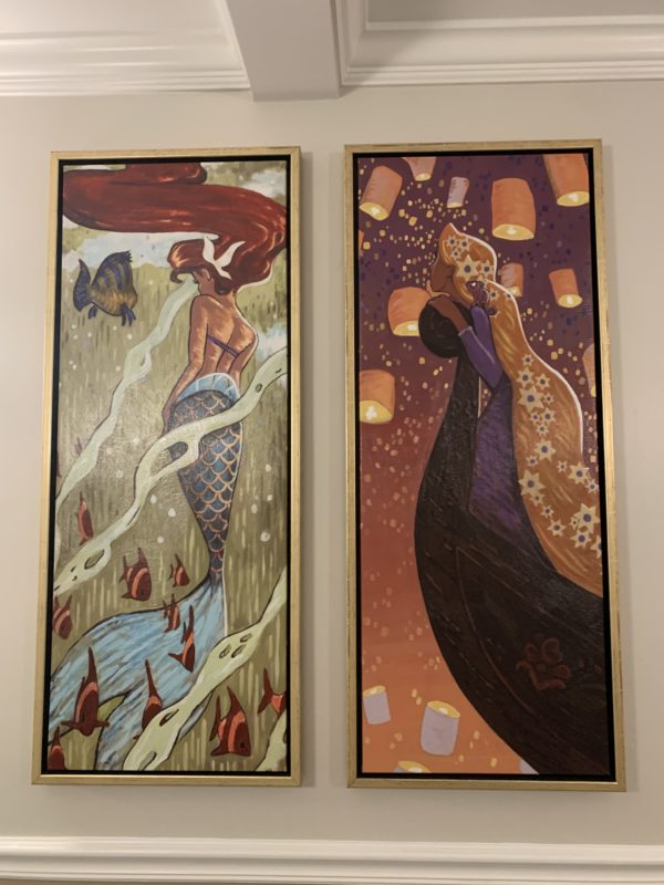 Here are two pieces: On the left is Ariel and on the right is Rapunzel from Tangled.