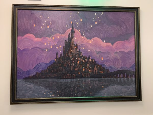 Here is another painting from Tangled and the beautiful lanterns!