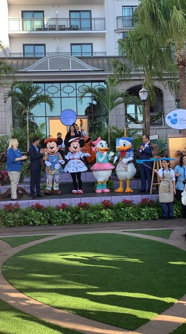 Mickey, Minnie, Daisy, and Donald have outfits that can only be seen at Disney's Riviera Resort!