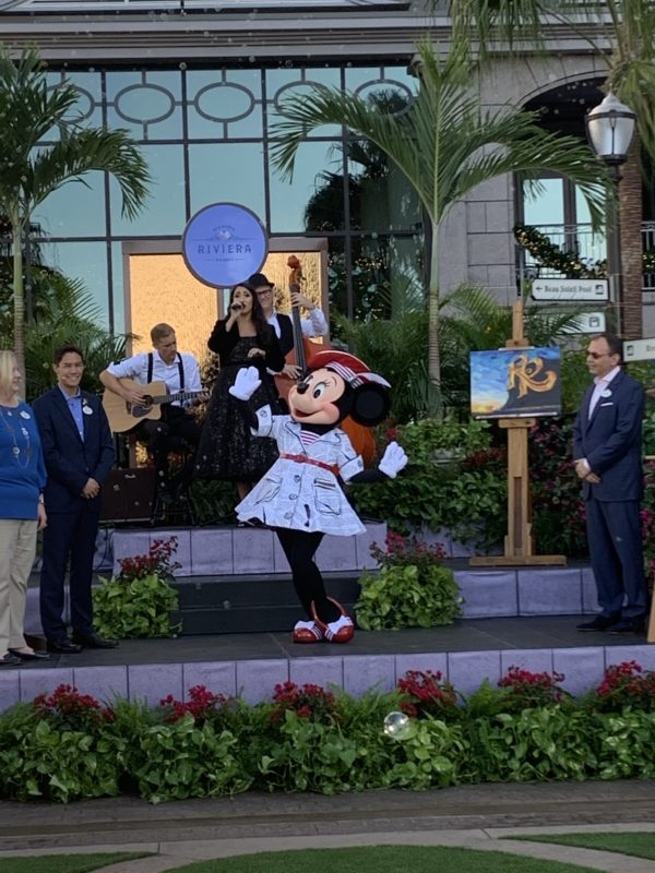"Minnie Mouse recited a poem that she ""wrote"" for the dedication ceremony!"