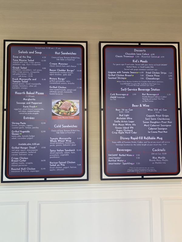 Primo Piatto serves up soups, salads, hot and cold sandwiches, entrees, desserts, kid's meals, beer and wine, and cocktails and offers a self-service beverage station for your refillable mugs!