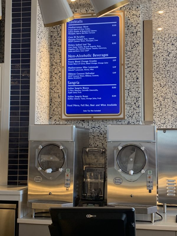 All of the counter-service dining locations feature these vibrant digital signs displaying the menu.
