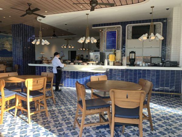 I love the blue color palate of Bar Riva!