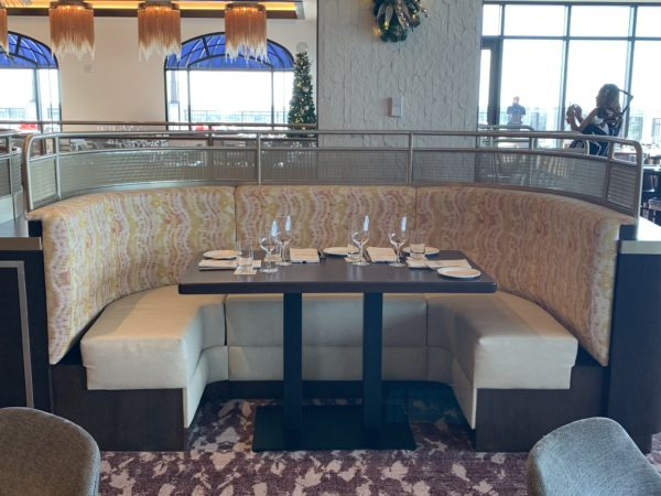 There are also private booths for larger parties.