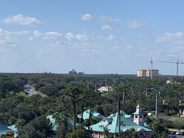 You can also see Gran Destino Tower (right) at Disney's Coronado Springs Resort.
