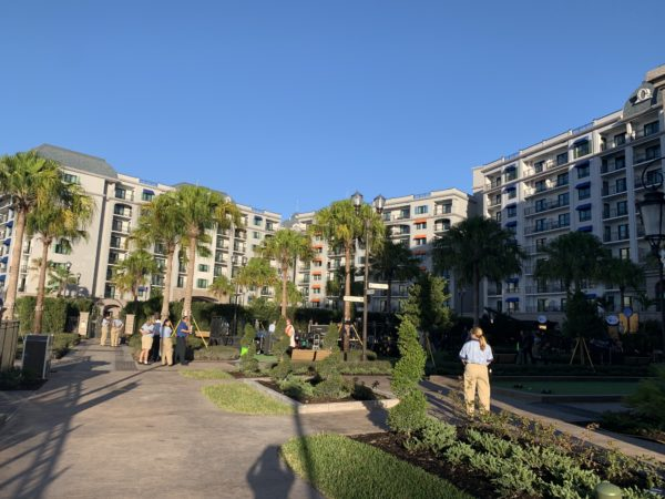 Disney's Riviera Resort is u-shaped allowing for lots of recreational space behind the resort!