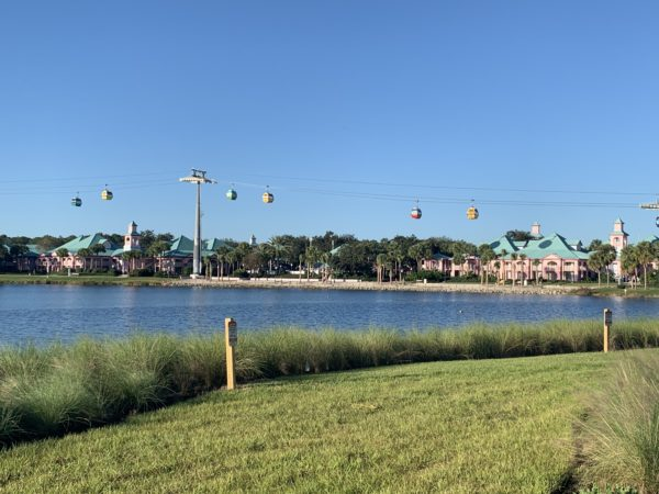 The views of the Skyliner from Disney's Riviera Resort are awesome!