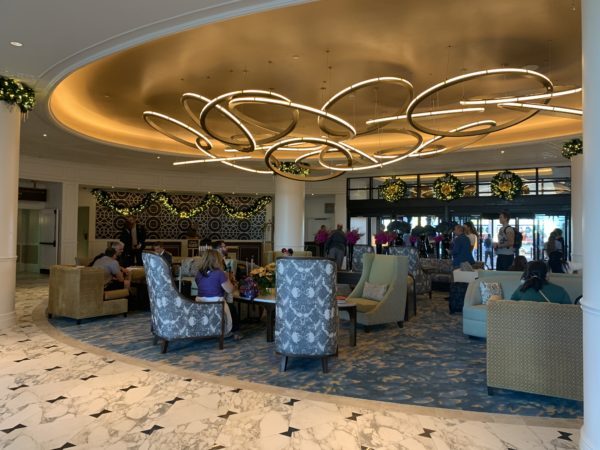 Disney's Riviera Resort Lobby is welcoming and sets the tone for the resort!