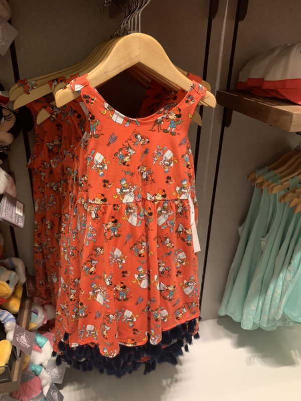 How about this cute dress featuring the characters of the Riviera?