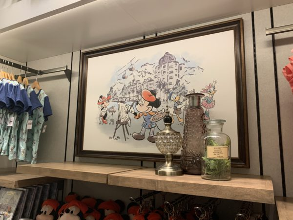 There are more than 40 pieces of original artwork throughout Disney's Riviera Resort including in the gift shop!