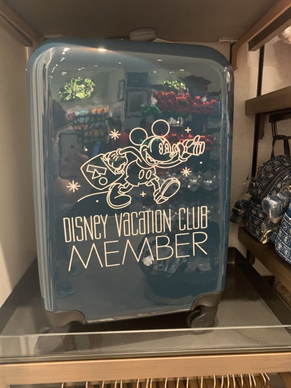 If you're traveling a bit longer, consider this Disney Vacation Club Member rolling suitcase.