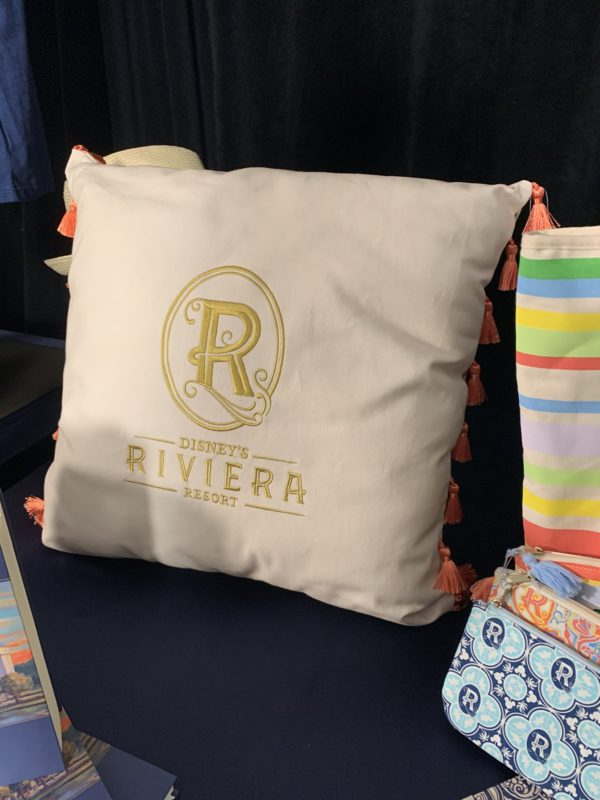 This Riviera Resort pillow is two-sided. It would be a great addition to any family room!