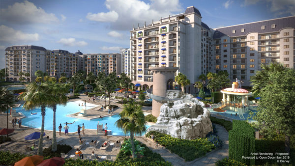 Check out this pool and the beautiful tower water slide! Photo credits (C) Disney Enterprises, Inc. All Rights Reserved