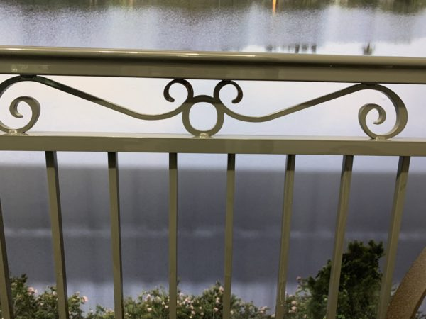 Another hidden Mickey in the balcony railing.