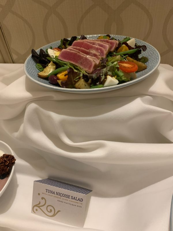 This Tuna Nicoise Salad with crisp greens and dijon vinaigrette is available at Primo Piatto and Bar Riva.