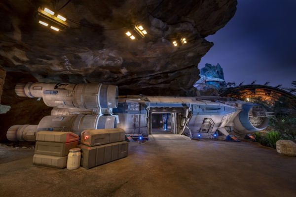 The journey begins on board a full-size transport shuttle, the Intersystem Transport Ship, which will blast you and the other Resistance recruits off of Batuu. Photo credits (C) Disney Enterprises, Inc. All Rights Reserved.