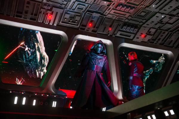 Watch out! You've stumbled into the bridge of the Star Destroyer, and Kylo Ren spots you! Photo credits (C) Disney Enterprises, Inc. All Rights Reserved.