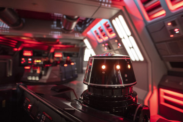 First Order R5-Series astromech droids pilot troop transports on board the Star Destroyer. Photo credits (C) Disney Enterprises, Inc. All Rights Reserved.
