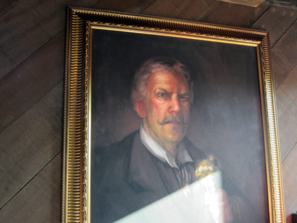 This painting hangs in the Big Thunder Mountain queue. It's of Barnabas T. Bullion, owner and founder of the mining expedition.